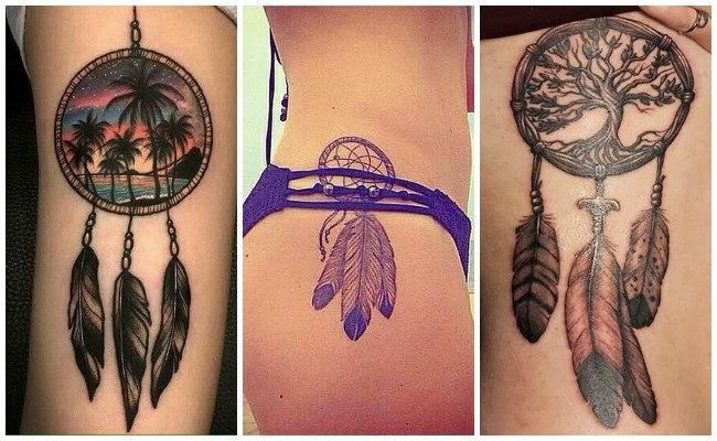 Atrapasueños en tatuajes