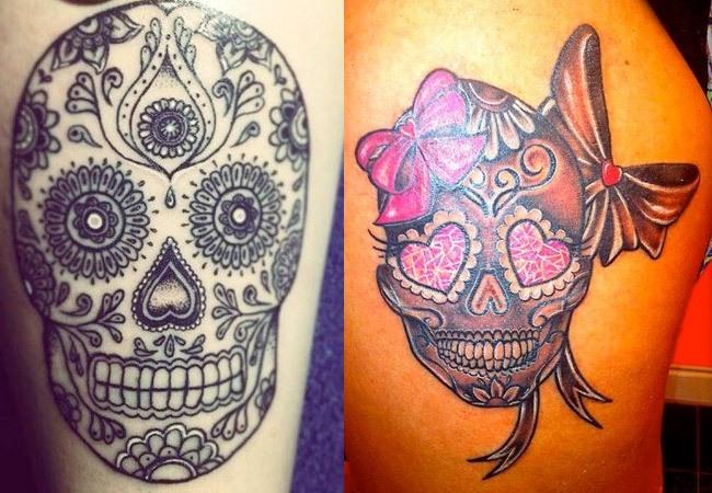 Calaveras mexicanas tatuadas