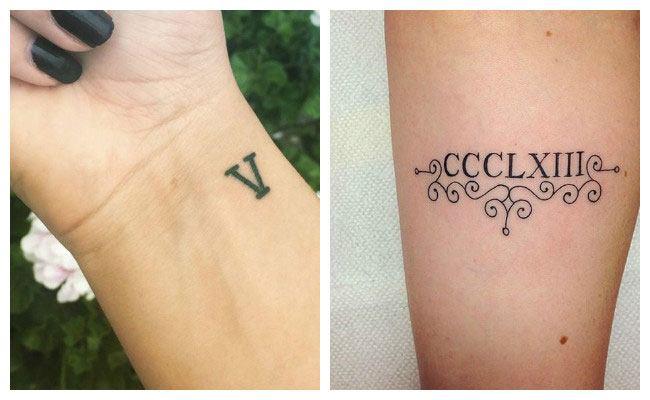 Tatuajes De N 250 Meros Romanos Plantillas Para Fechas Y Significados