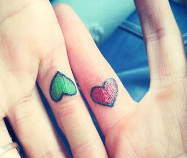 corazones para tatuar