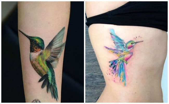 Diseños de tatuajes de colibrí