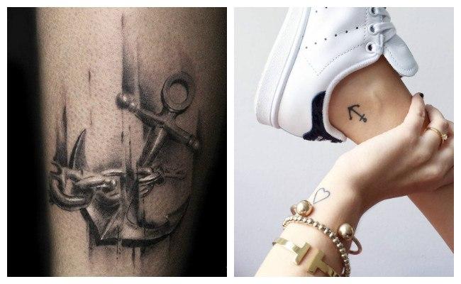 Diseños de tatuajes de anclas