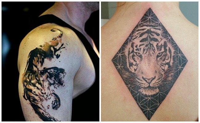 Los mejores diseños de tatuajes de tigres