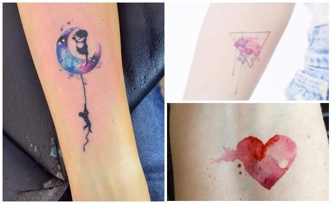 Diseños de tatuajes en acuarela