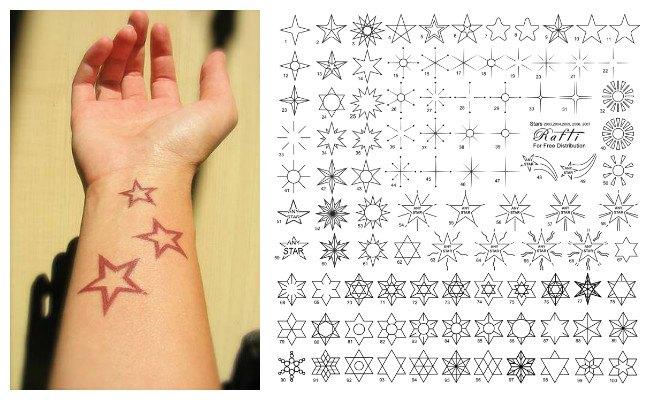 Diseños de tatuajes de estrellas