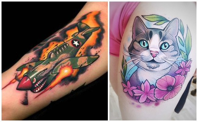 Diseños de tatuajes new school