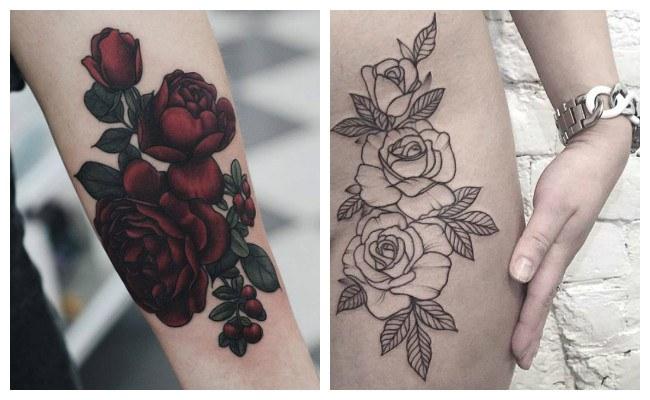 Diseños de tatuajes de rosas rojas