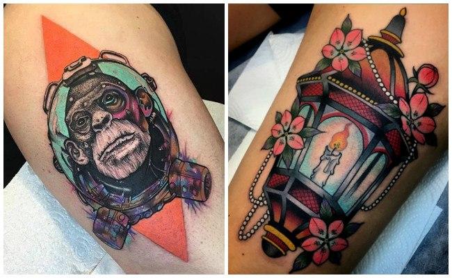 Estilo neotradicional en tatuajes