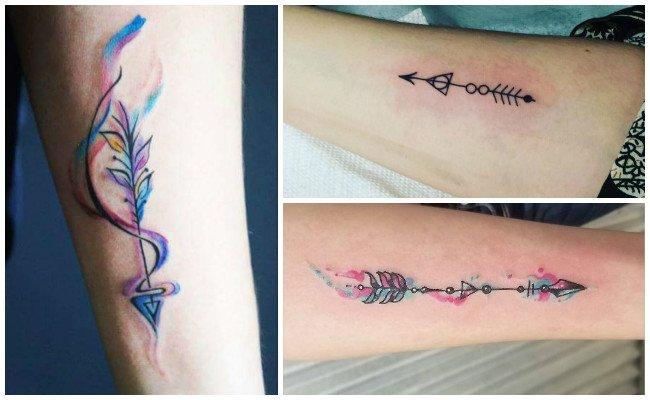 Flechas indias en tatuajes