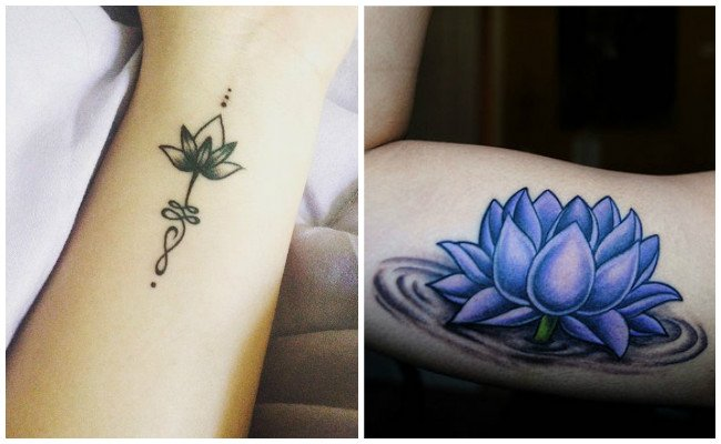 Imágenes Tatuajes De Flor De Loto Mujeres Y Hombres