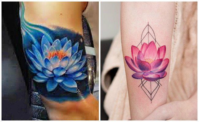 Flor de loto ideas para tatuaje
