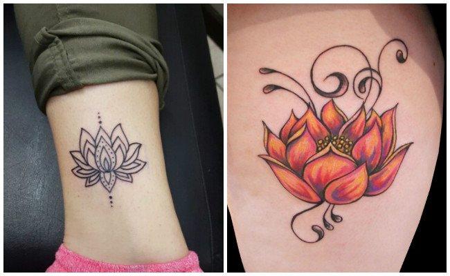 Flor de loto tatuaje para hombre