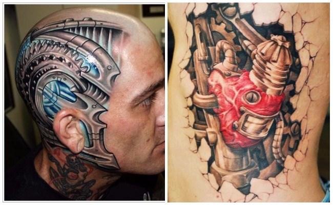 Fotos de tatuajes biomecánicos