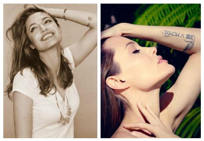 Fotos de los nuevos tatuajes de Angelina Jolie