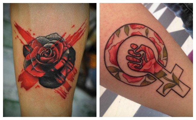 Fotos de tatuajes de rosa para mujer