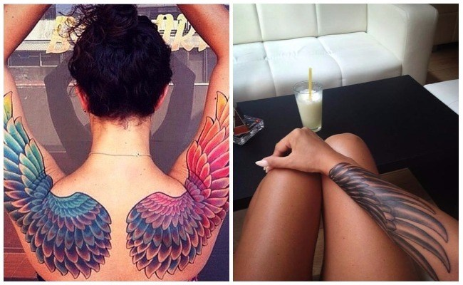 Fotos de tatuajes de alas en la espalda