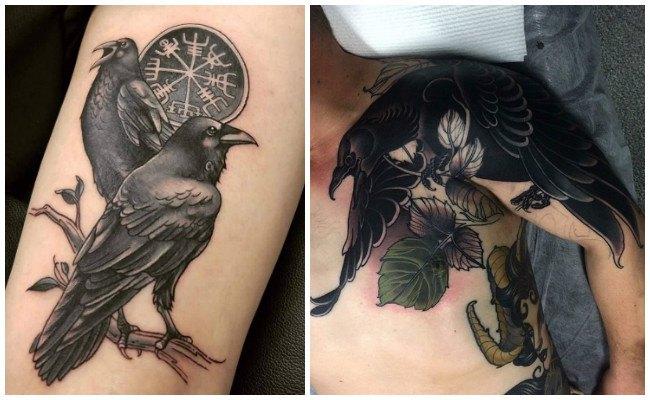 Fotos de tatuajes de cuervos