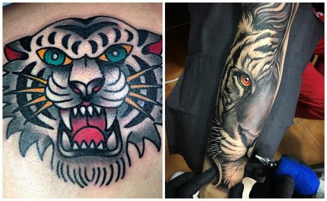 Ideas de tatuajes de tigres