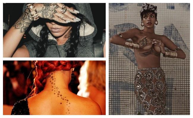 Historia de los tatuajes de Rihanna
