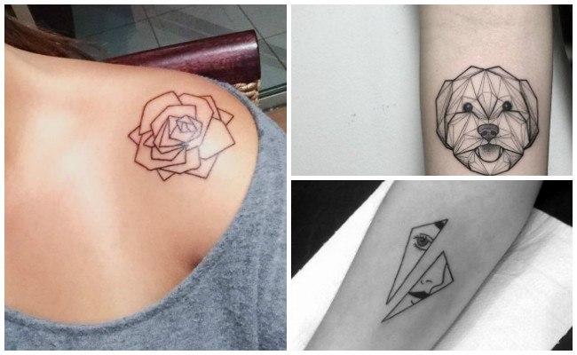 Ideas de tatuajes geométricos