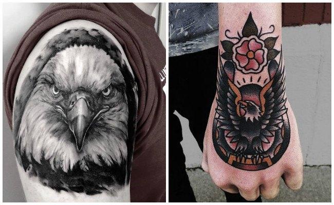 Imágenes de tatuajes de águilas en mujeres