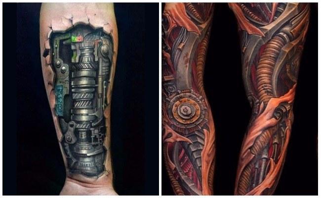 Imágenes de tatuajes biomecánicos