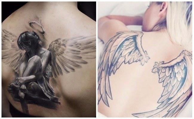 Imágenes de tatuajes de alas de ángeles
