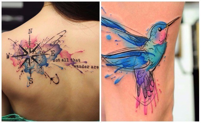 Imágenes de tatuajes de acuarela