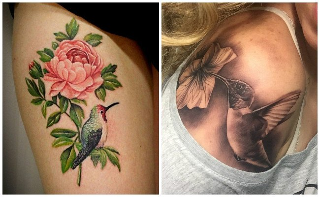 Imágenes de tatuajes de colibrí