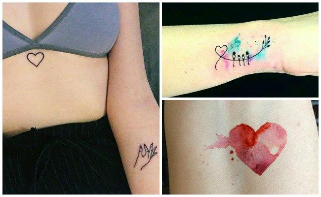 Tatuajes de corazones y otros diseos de tatuajes de amor