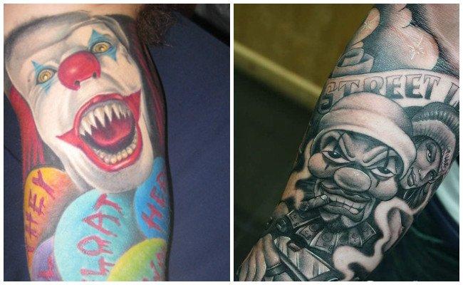 Imágenes de tatuajes de payasos tristes