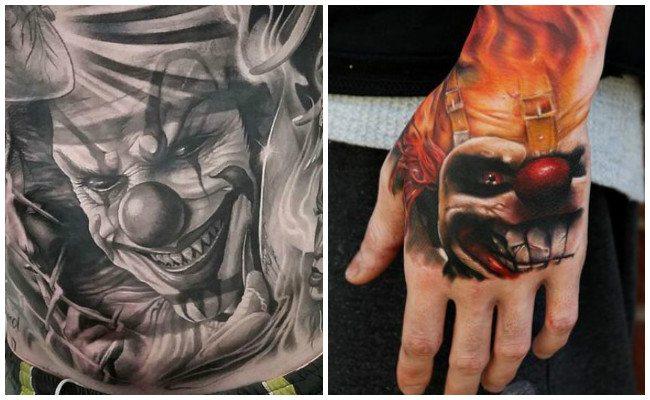 Imágenes de tatuajes de payasos asesinos