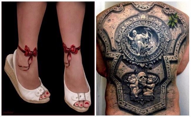Imágenes de tatuajes en tres dimensiones