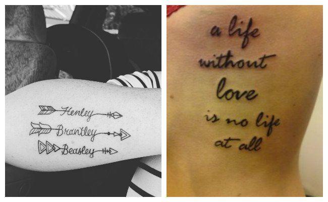 Letras de tatuajes para mujer