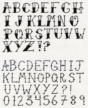 Letras para tatuajes abecedario completo