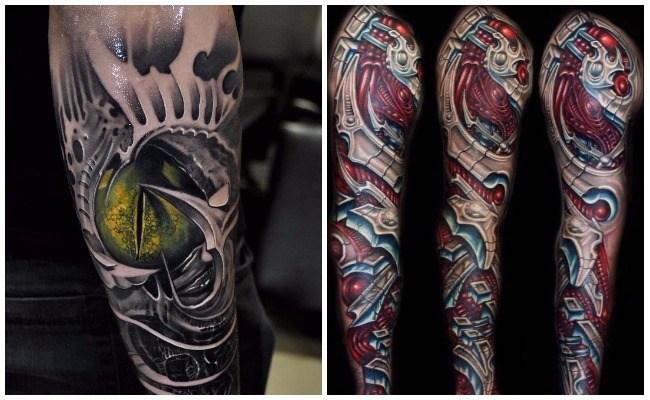 Los mejores tatuajes biomecánicos