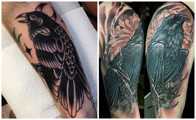 Mejores tatuajes de cuervos