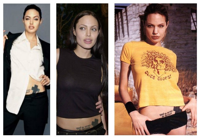 Angelina Jolie's new tattoos