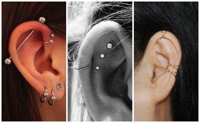 Piercing en la oreja con aro
