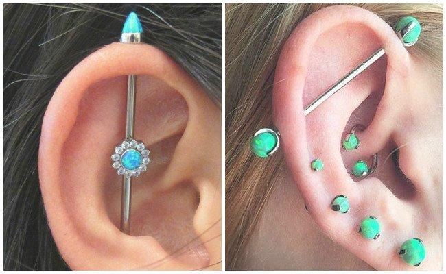 Piercing en la oreja hacia arriba