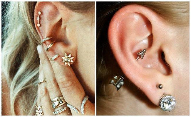 Piercing en la oreja helix