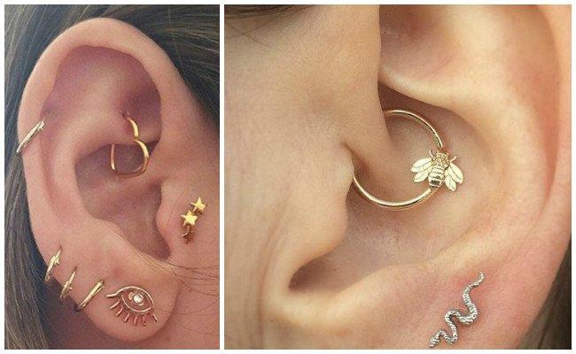 Piercing en la oreja y sus nombres