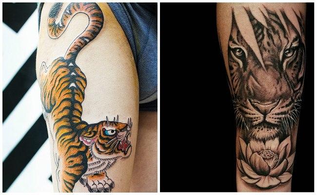 que significan los tatuajes de tigres