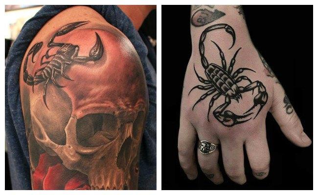 Significado de los tatuajes de escorpiones