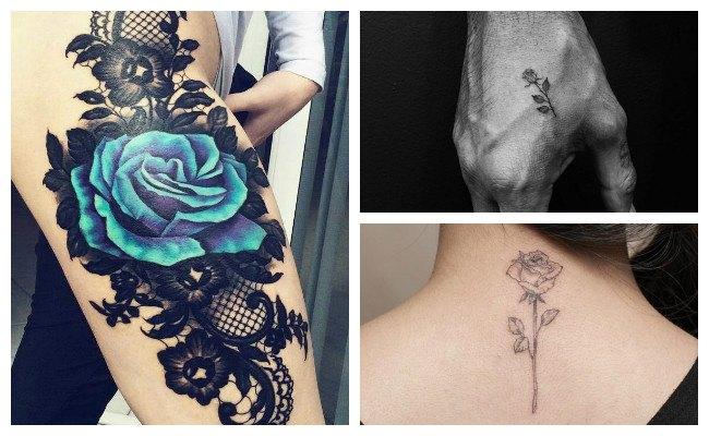Significado del tattoo de rosa azul