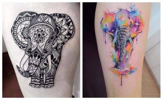 Significado del tatuaje de elefante mandala