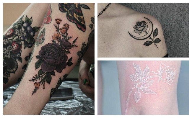 Significado de tatuaje de rosa negra
