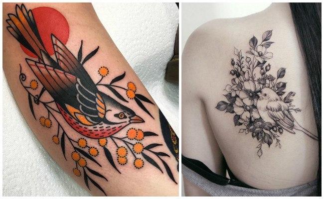Significado de los tatuajes de pájaros