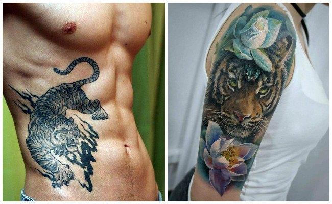 El significado de los tatuajes de tigres