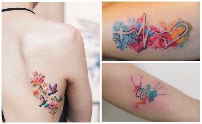 Tattoo de estilo acuarela